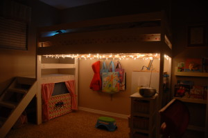 Lighted DIY Loft Bed
