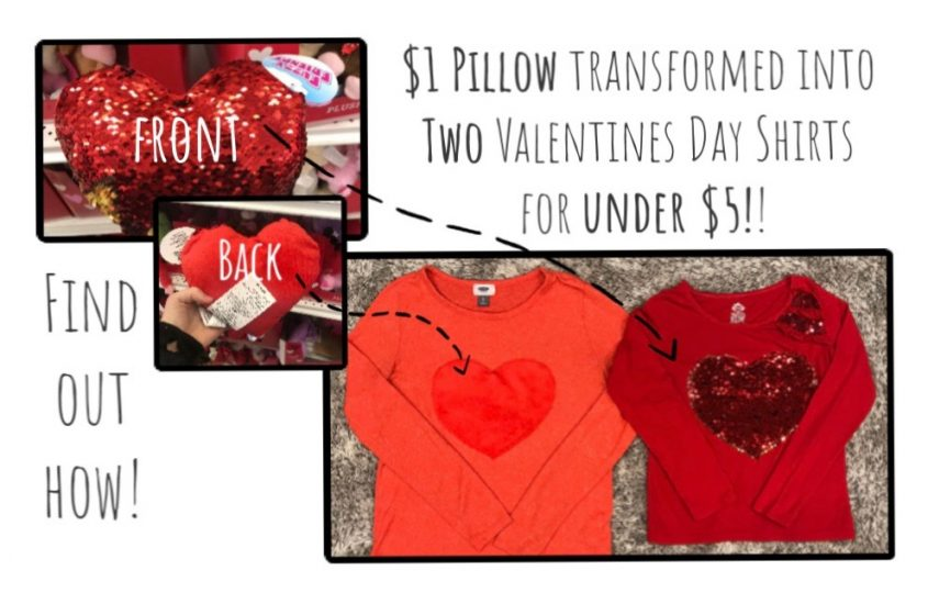 Valentine Shirts from the Dollar Store!