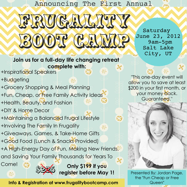 First Annual Frugality Boot Camp!